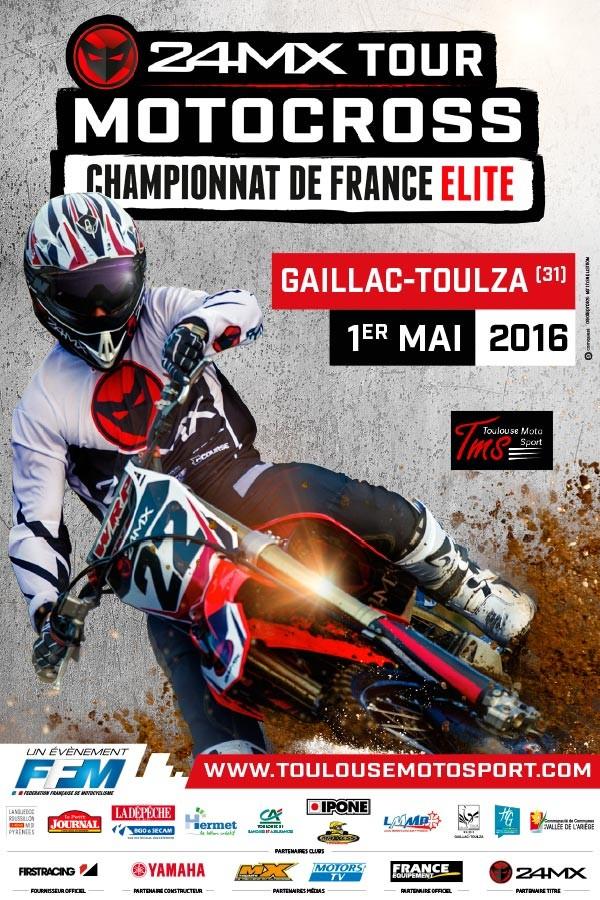 1er MAI 2016 - 5ème Manche du championnat de France de Motocross Elite 2016