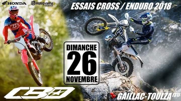 Essais Cross et Enduro- Dimanche 26 novembre 2017